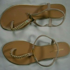 Madden Girl Women's Thong Embellished Sandals Sz10